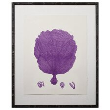 Purple Coral Giclee II Framed Graphic Art