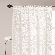 Zebra Burnout Rod Pocket Curtain Single Panel