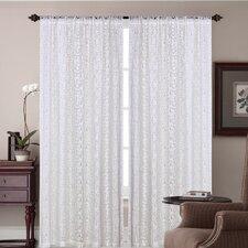 Paradise Cotton Rod Pocket Window Curtain Single Panel