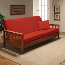 Stretch Jersey Full Futon Cover in Tangerine