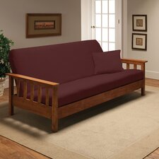 Stretch Jersey Full Futon Cover in Ruby