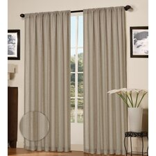 Plaza Rod Pocket Curtain Panel (Set of 2)