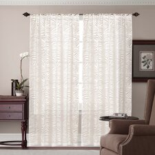 <strong>Madison Home</strong> Zebra Burnout Rod Pocket Curtain Single Panel