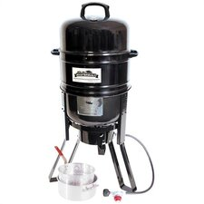 <strong>Masterbuilt</strong> 7 in 1 Charcoal / Propane Smoker and Grill