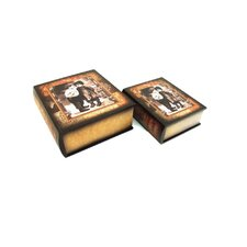Boy and Girl Design Book Box (Set of 2)