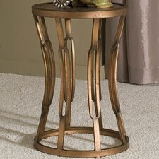 Hourglass Table with Metal Top Surface