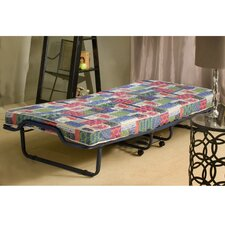 <strong>InnerSpace Luxury Products</strong> Firenze Twin Folding Bed with Metal Frame and Reversible Mattress