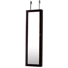 Over The Door or Wall Hang Jewelry Armoire Mirror