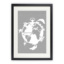 Around the World in 80 Days Framed Graphic Art