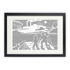 Adventures of Huckleberry Finn - Huck and Jim Framed Graphic Art
