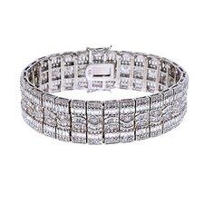 Hilary's cubic zirconia Diamond Silver Bracelet
