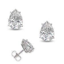 Cubic Zirconia Diamond Setting Stud Earrings