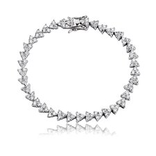 Triangle Cubic Zirconia Tennis Bracelet