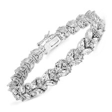 All Cubic Zirconia Sterling Silver Bracelet