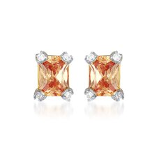 Cubic Zirconia and Champ Earrings