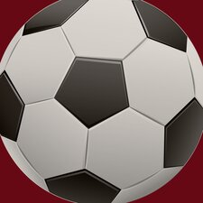 Single Soccer Ball Wall Decal
