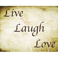 Live Laugh Love Canvas Art