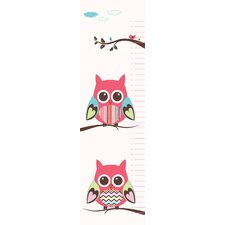 Belly Owl Growth Chart Wall Decal