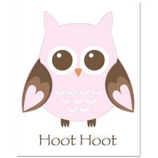 Owl-Hoot Canvas Art