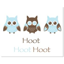 <strong>Secretly Designed</strong> Owl Trio-Hoot Art Print