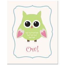 Owl in Frame Canvas Art