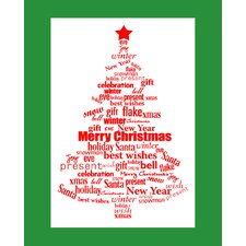 Word Christmas Art Print