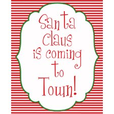 Santa Coming to Town Art Print