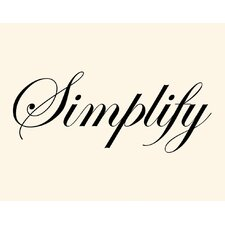 Simplify Wall Art Print