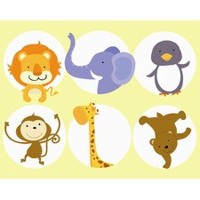Zoo Animals Wall Art Print