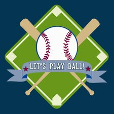 Let's Play Ball Wall Art Print