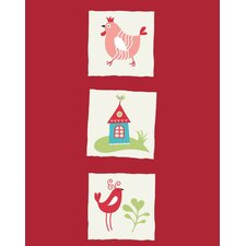 Rooster Bird and Home Wall Art Print