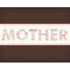 <strong>Secretly Designed</strong> Words For A Mother Wall Art Print
