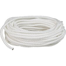 "0.375"" x 50' Braid Rope in White"
