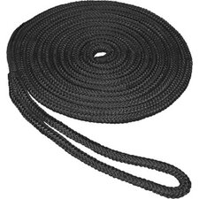 "<strong>Unified Marine</strong> 0.5"" x 20' Double Braid Nylon Dockline in Black"