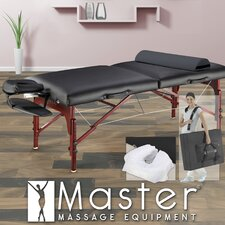 "<strong>Master Massage</strong> 31"" Montclair Pro Package Massage Table in Black"