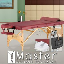 "<strong>Master Massage</strong> 30"" Geneva LX Massage Table in Maroon"