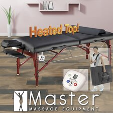 "<strong>Master Massage</strong> 31"" Montclair Therma Top Pro Package Massage Table in Black"