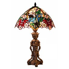 """Flower Design 23"""" H Table Lamp with Bowl Shade"""