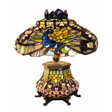 "Peacock Lantern 23"" H Table Lamp with Bowl Shade"