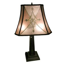 "Mica Style 28"" H Table Lamp with Bell Shade"