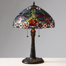 "Rose Dragonfly 23"" H Table Lamp with Bowl Shade"