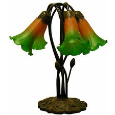 """5-Way Lily 16"""" H Table Lamp with Bell Shade"""