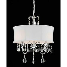 3 Light Round Crystal Chandelier