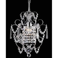 <strong>Warehouse of Tiffany</strong> Princess 1 Light Crystal Chandelier