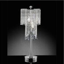 <strong>Warehouse of Tiffany</strong> 3 Light Crystal Table Lamp