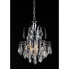 Susan 3 Light Crystal Chandelier