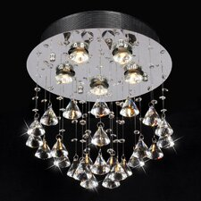 Catherine 5 Light Crystal Flush Mount
