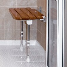 Wooden Slatted Shower Chair