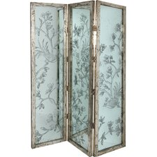 "72"" x 52.5"" Three Panel Room Divider"