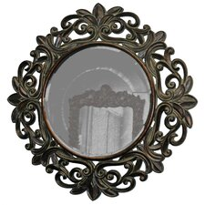 <strong>Imagination Mirrors</strong> Florence Round Framed Mirror in Dark Gold